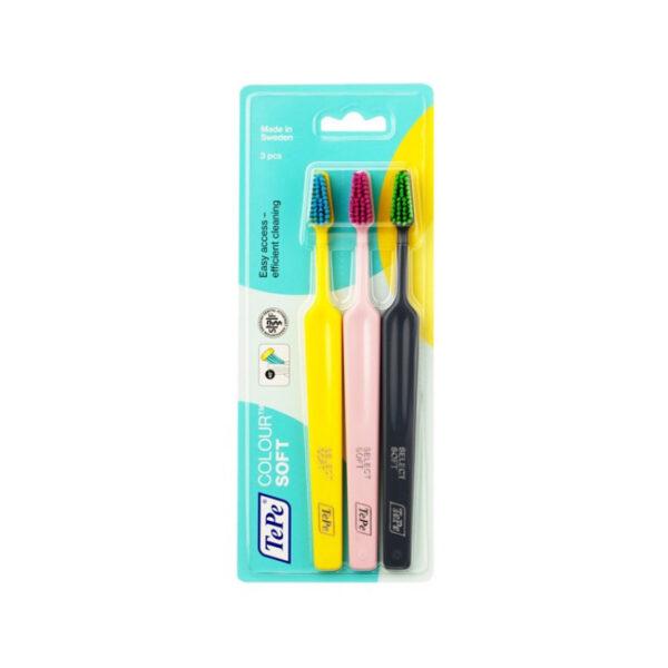 Зубная щетка TePe Colour Soft, блистер 3 штуки